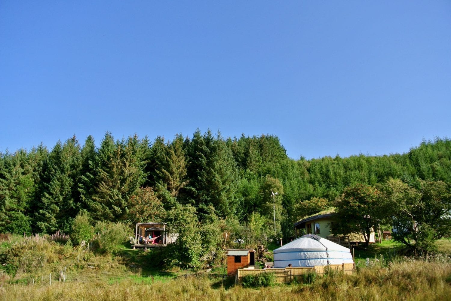 Off-Grid Eco Retreat Centre - Ty Mam Mawr - Nestled deep in Cynwyd Forest high in the Berwyn Mountains in North Wales.
