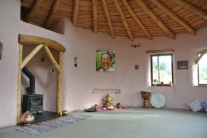 Happy space ty mam mawr eco retreat centre straw bale roundhouse
