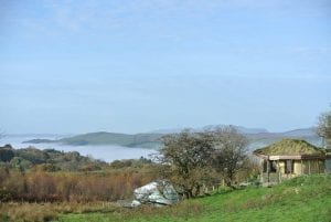 Looking out west we can see arenig mawr in the distance ty mam mawr eco retreat centre