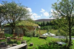 Lovely day to sit by the fire pit at ty mam mawr eco retreat centre