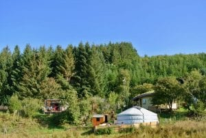 Off grid living at ty mam mawr eco retreat centre is about being as self reliant as possible
