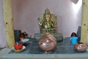Ready to lay the hearth thank you ganesh for helping us overcome all those obstacles