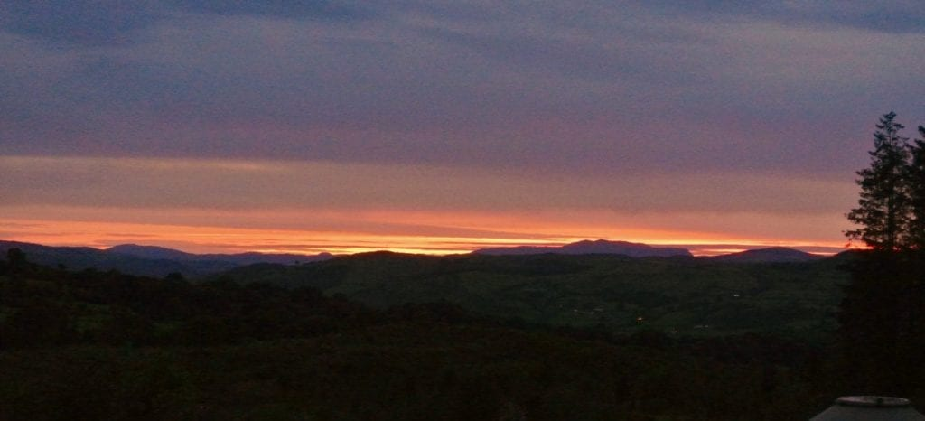 Sunset over ty crwn bach