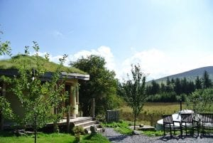 The roundhouse and ty crwn mawr at the intimate off grid eco retreat centre ty mam mawr