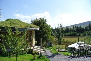 The roundhouse and ty crwn mawr authentic mongolian ger yurt at the intimate off grid eco retreat centre ty mam mawr