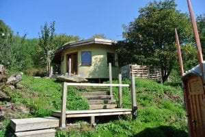 The straw bale roundhouse and big yurt ty mam mawr eco retreat centre