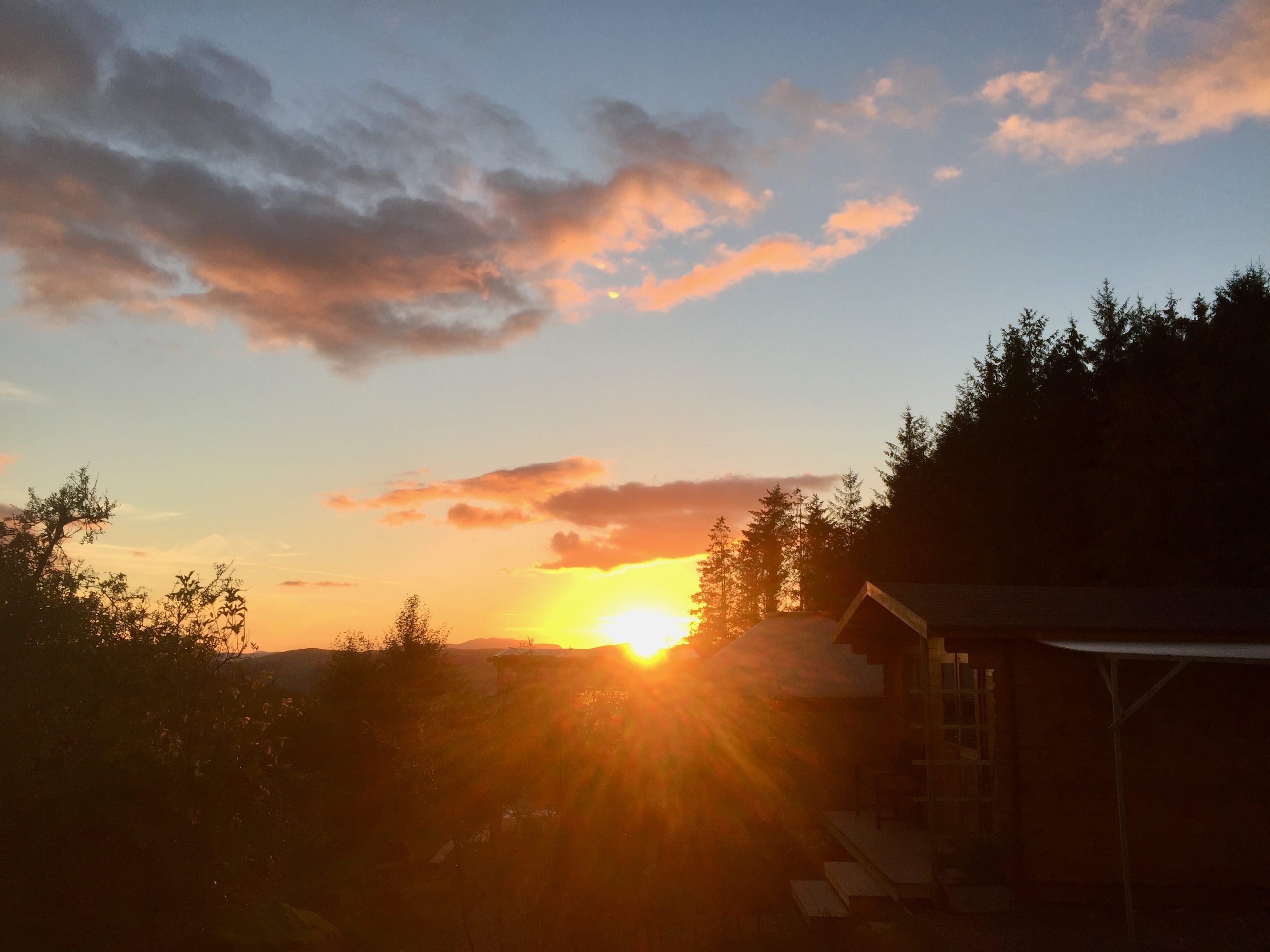 Sunset 1 off grid sustainable eco glampsite and glamping