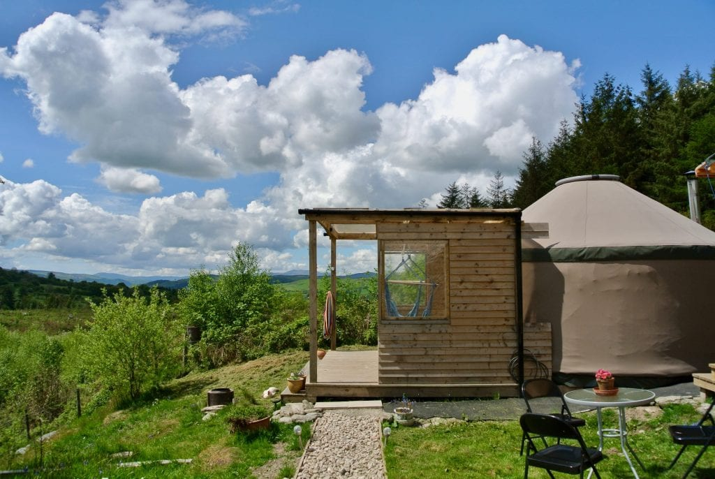 Ty crwn bach idris yurt 16 off grid sustainable eco glampsite and glamping