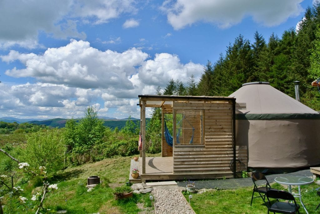 Ty crwn bach idris yurt 18 off grid sustainable eco glampsite and glamping