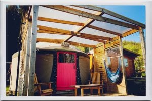 Ty crwn bach idris yurt 2 off grid sustainable eco glampsite and glamping