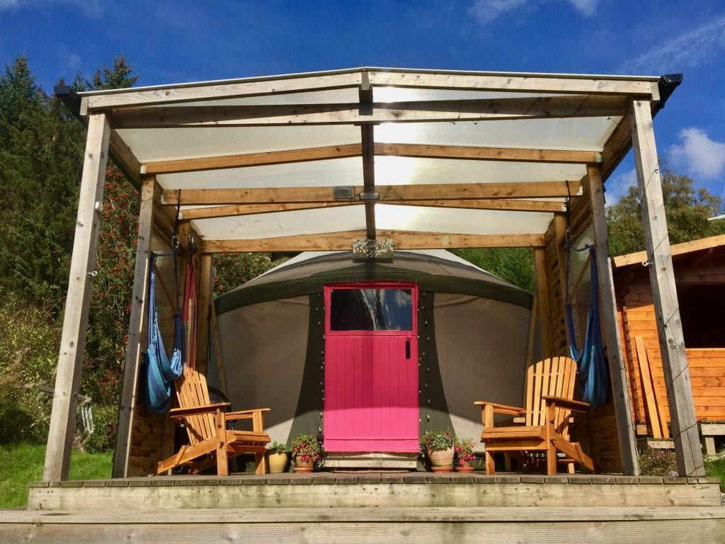 Ty crwn bach idris yurt 4 off grid sustainable eco glampsite and glamping