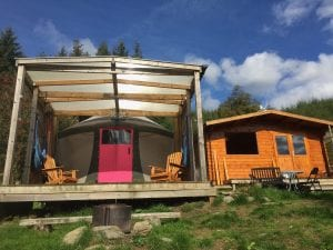 Ty crwn bach idris yurt 6 off grid sustainable eco glampsite and glamping