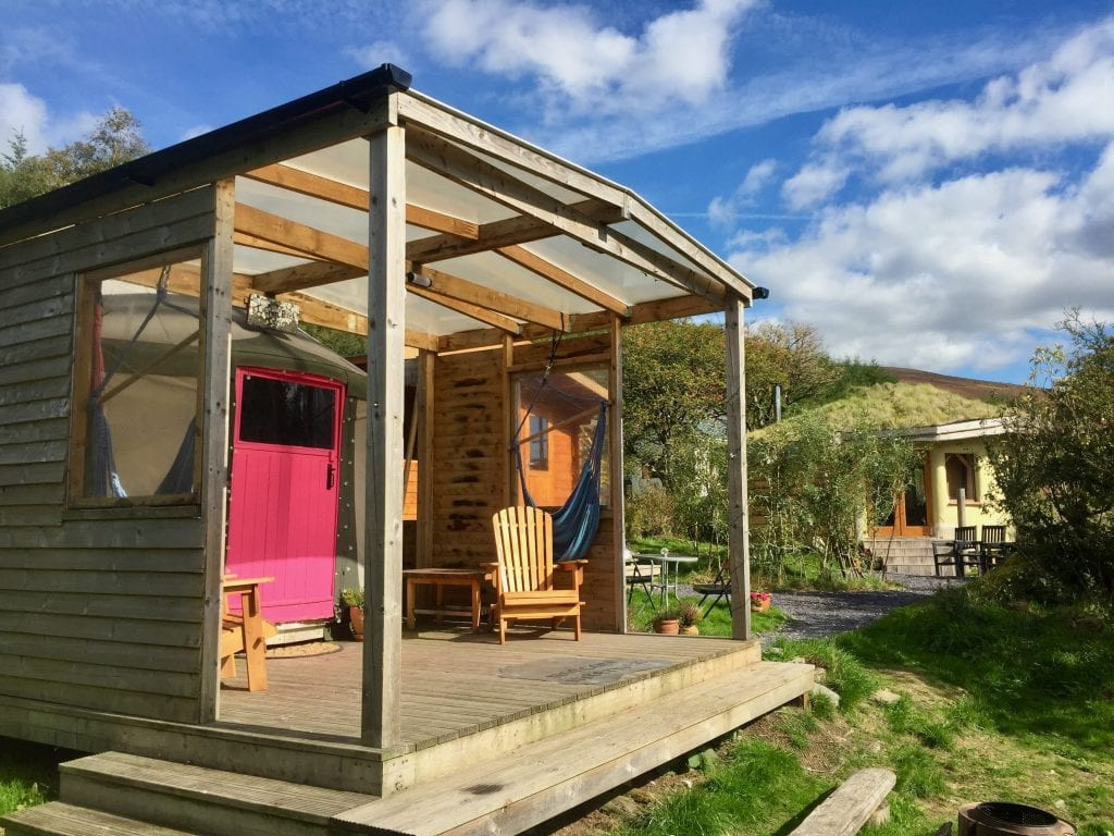 Ty crwn bach idris yurt 8 off grid sustainable eco glampsite and glamping