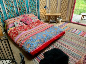 Ty crwn bach idris yurt inside 1 off grid sustainable eco glampsite and glamping