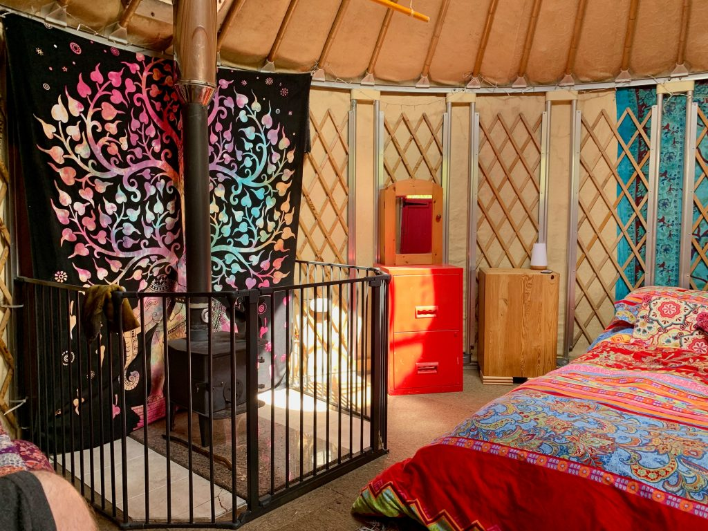 Ty crwn bach idris yurt inside 3 off grid sustainable eco glampsite and glamping