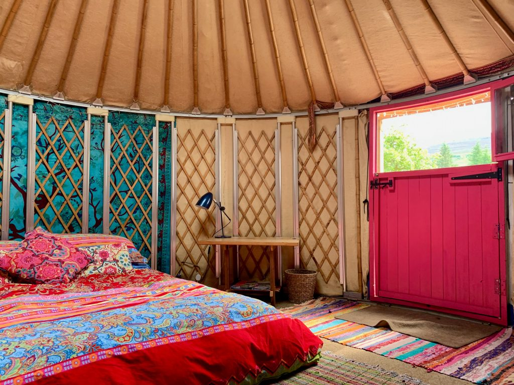 Ty crwn bach idris yurt inside 5 off grid sustainable eco glampsite and glamping