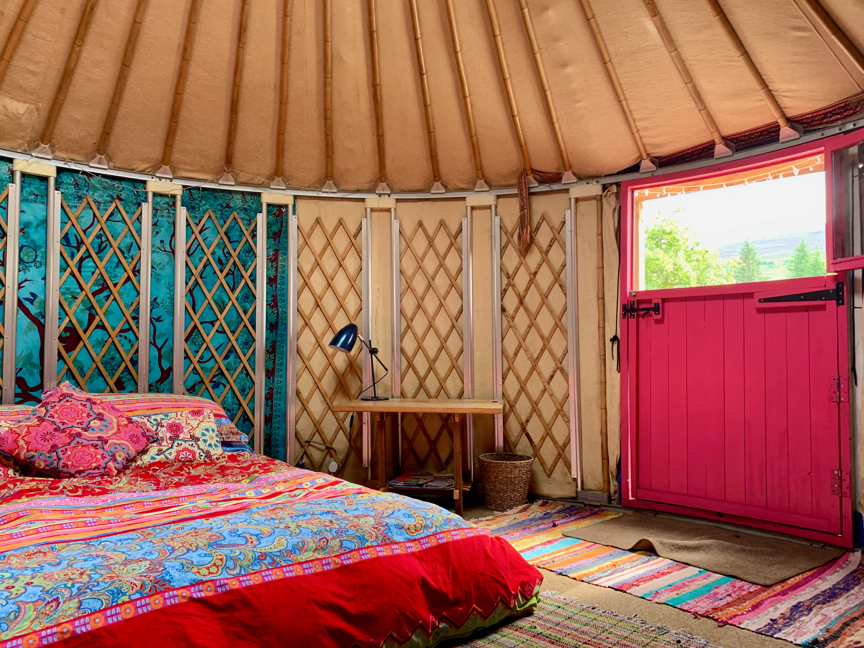 Ty Crwn Bach Idris Yurt Inside (5) Off Grid Sustainable Eco Glampsite And Glamping