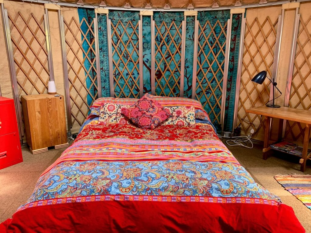 Ty crwn bach idris yurt inside 6 off grid sustainable eco glampsite and glamping