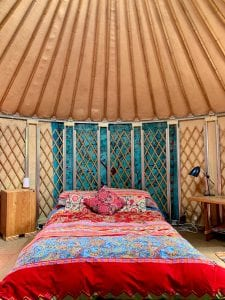 Ty crwn bach idris yurt inside 7 off grid sustainable eco glampsite and glamping