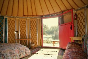 Ty crwn bach idris yurt interior 2 off grid sustainable eco glampsite and glamping