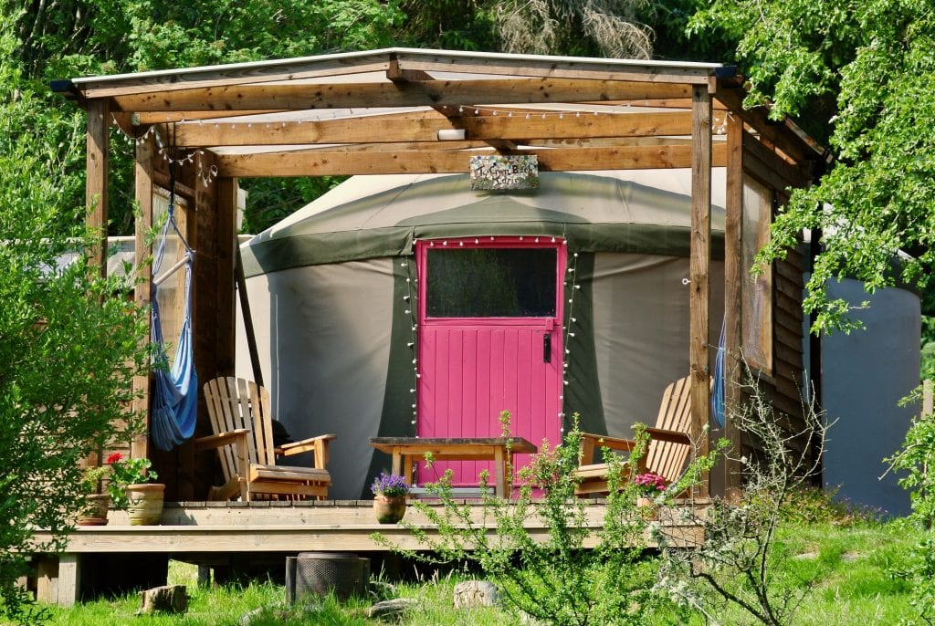 Ty crwn bach idris yurt off grid sustainable eco glampsite and glamping