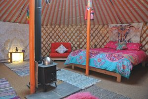 Ty crwn mawr yurt interior 10 off grid sustainable eco glampsite and glamping
