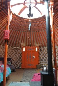 Ty crwn mawr yurt interior 16 off grid sustainable eco glampsite and glamping