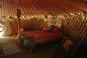 Ty crwn mawr yurt interior 20 off grid sustainable eco glampsite and glamping