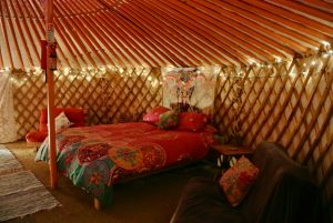 Ty crwn mawr yurt interior 21 off grid sustainable eco glampsite and glamping