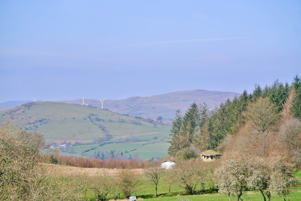 Ty mam mawr in the morning roundhouse and big yurt off grid sustainable eco glampsite and glamping