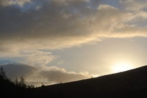 Winters sunrise off grid sustainable eco glampsite and glamping