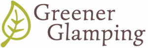 Gg logo v2 370x120 retina two lines text white background greener glamping logo and header